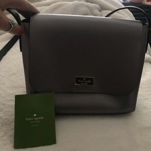 kate spade caressa silver crossbody purse